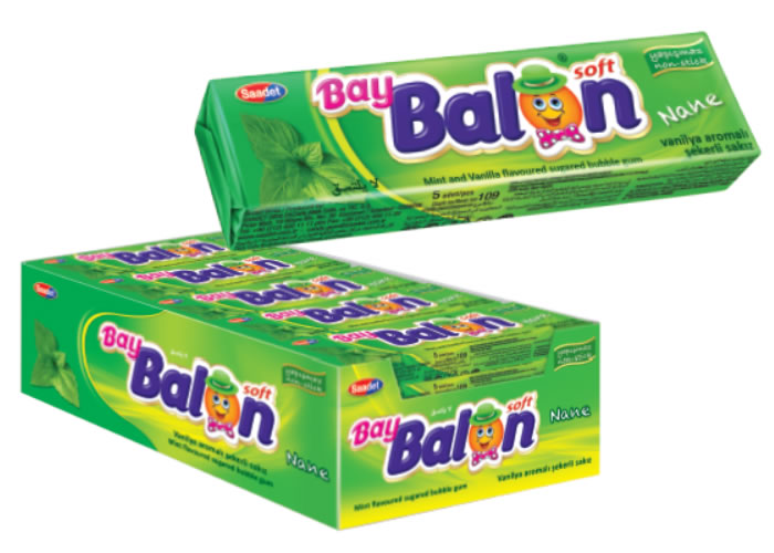 Bay Balon Soft Peppermint Flavoured Sugared Gum