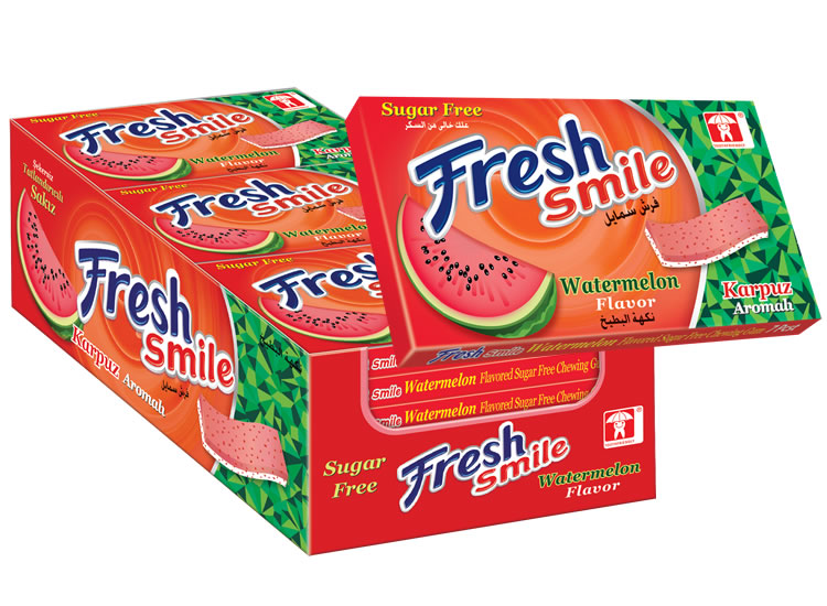 Fresh Smile Watermelon Flavoured Sugar Free Gum