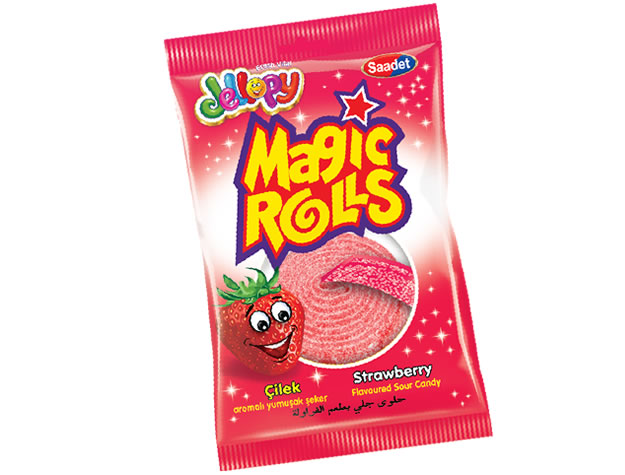 Jellopy Magic Rolls Strawberry Flavoured