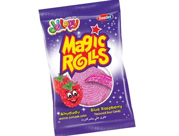 Jellopy Magic Rolls Ahududu Aromalı