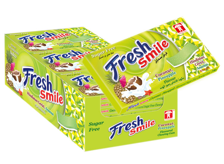 Fresh Smile Coconut Pineapple Flavoured Sugar Free Gum