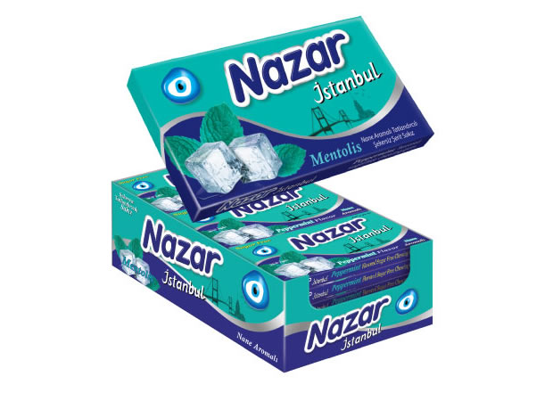 Nazar İstanbul Peppermint Flavoured Sugar Free Chewing Gum