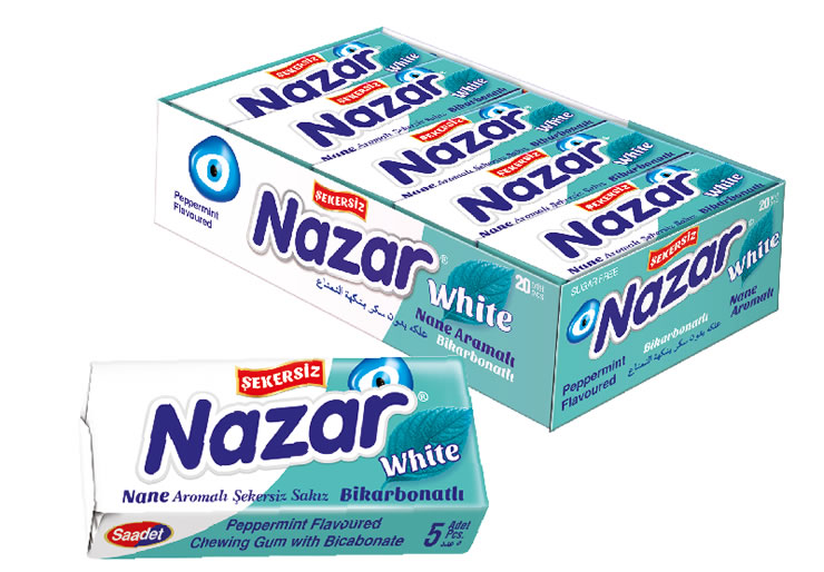 Nazar Peppermint Flavoured Sugar Free Gum with Bicarbonate
