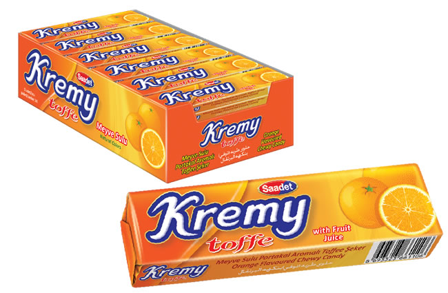 Kremy Orange Flavoured Toffee Candy