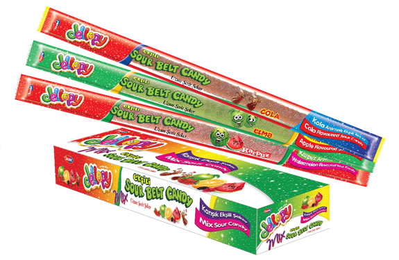 Jellopy Sourbelt Candy Stick MIX Assorted Flavour Sour Candy