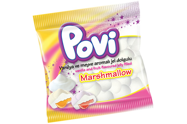 Povi Assorted Flavoured  Marshmallow