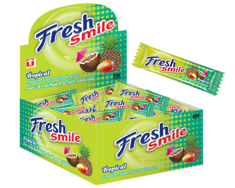 Fresh Smile Tropical Fruits Flavoured Sugar Free Gum
