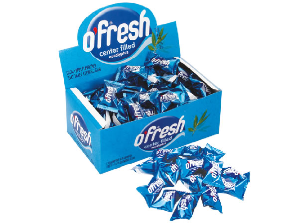O'FRESH Spearmint Flavoured Center Filled Chewing Gum