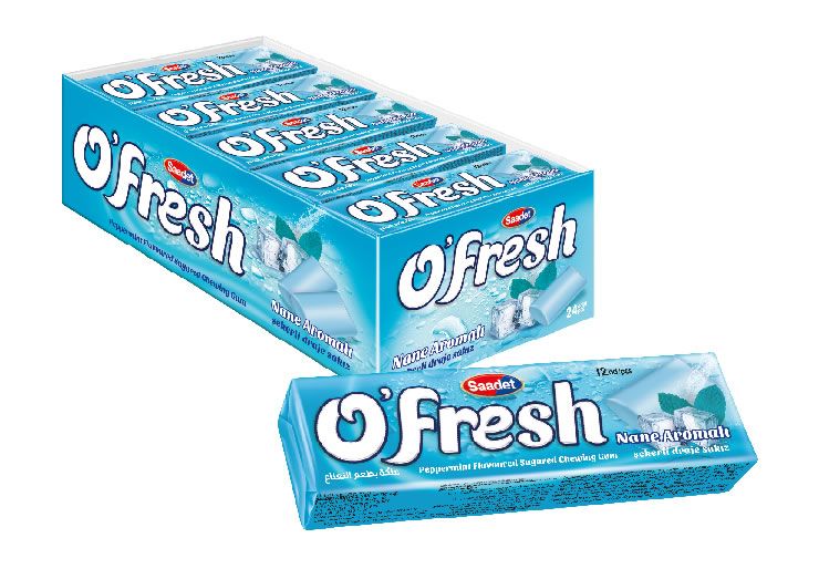 O'FRESH Peppermint Flavoured Sugared Dragee Gum