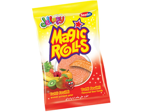 Jellopy Magic Rolls Tutti Frutti Aromalı