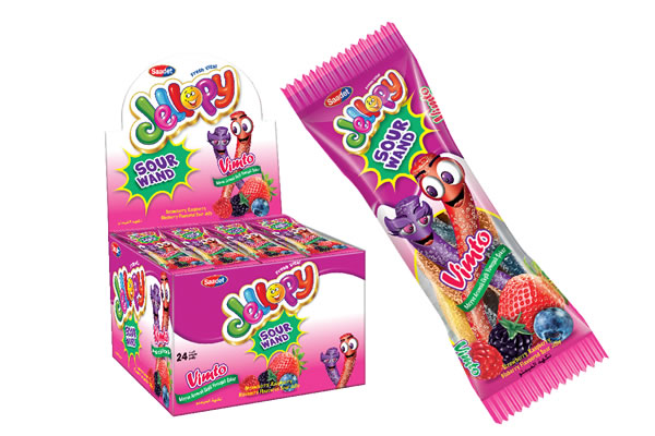 Jellopy Sour Wand Wimto