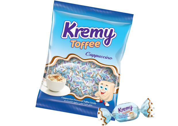 Kremy Cappuccino Flavoured Toffee Candy