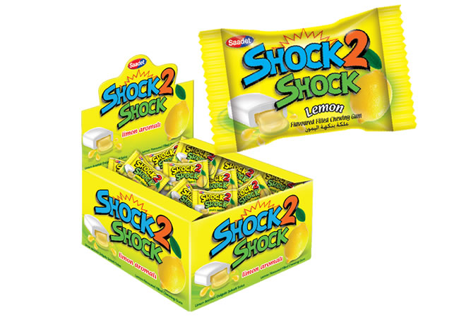 Shock 2 Shock Lemon Flavoured Sugared Gum