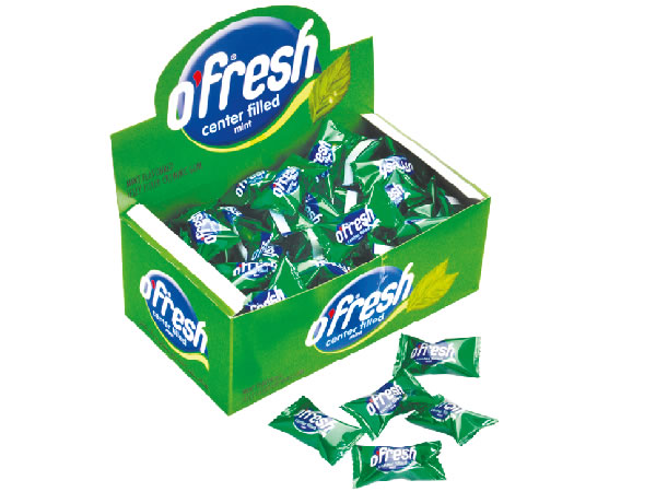 O'FRESH Eucalyptus Flavoured Center Filled Chewing Gum