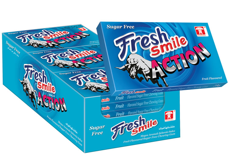 Fresh Smile Action Fruit Flavoured Sugar Free Gum