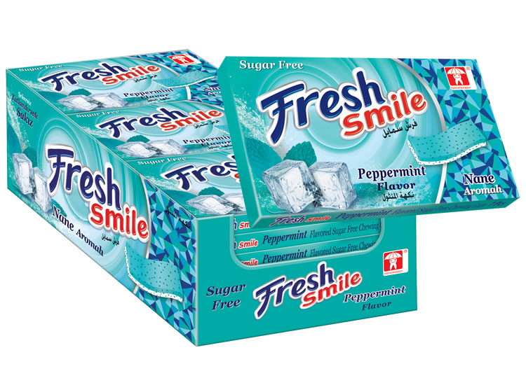 Fresh Smile Peppermint Flavoured Sugar Free Gum