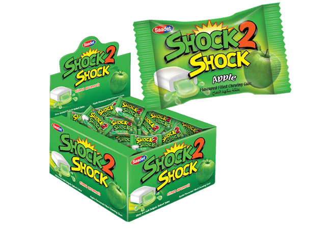 Shock 2 Shock Apple Flavoured Sugared Gum