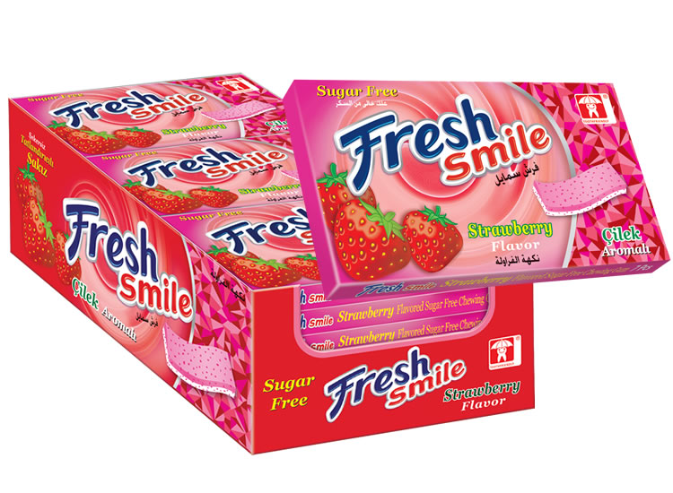 Fresh Smile Strawberry Flavoured Sugar Free Gum