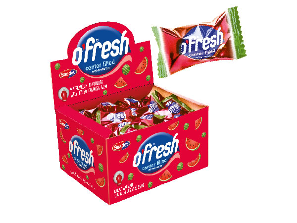 O'FRESH Watermelon Flavoured Center Filled Chewing Gum
