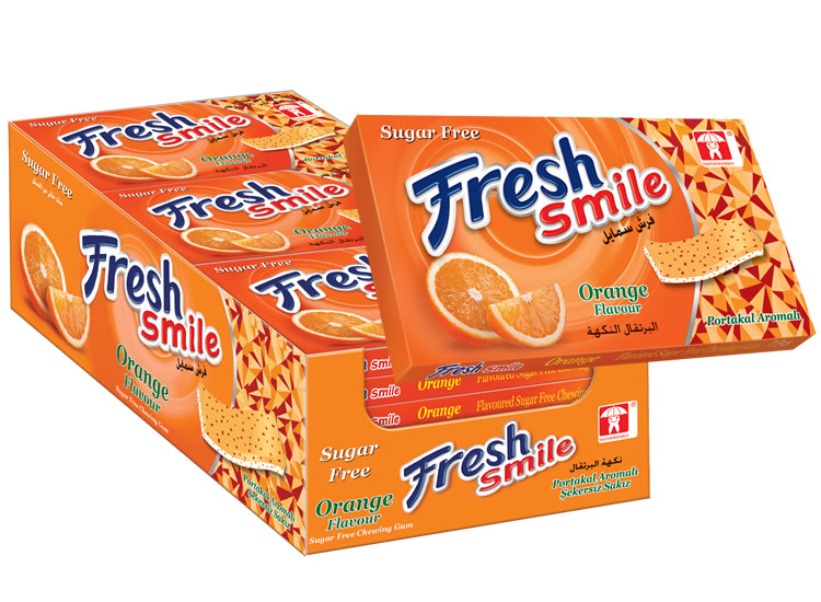 Fresh Smile Orange Flavoured Sugar Free Gum