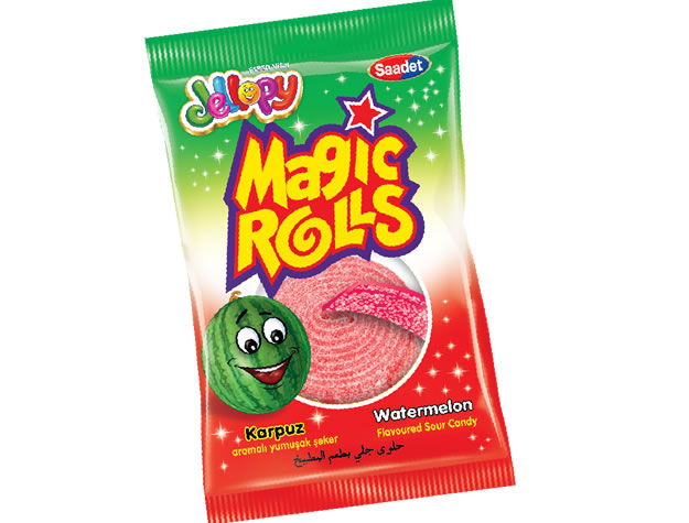 Jellopy Magic Rolls Karpuz Aromalı