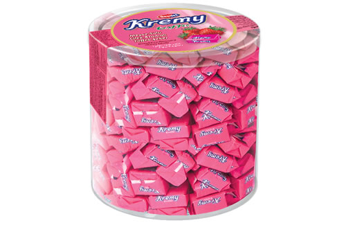 Kremy Strawberry Flavoured Toffee Candy