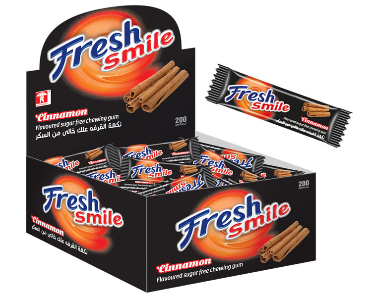 Fresh Smile Cinnamon Flavoured Sugar Free Gum