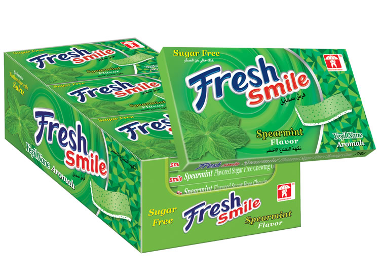 Fresh Smile Spearmint Flavoured Sugar Free Gum