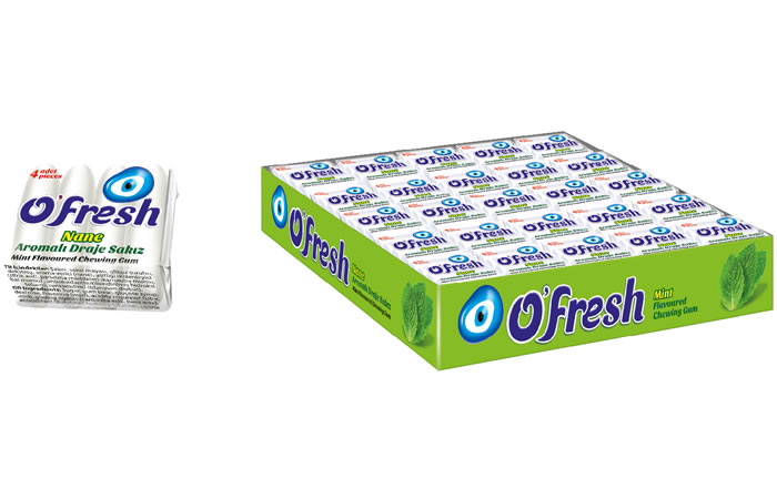O'FRESH Spearmint Flavoured Sugared Dragee Gum
