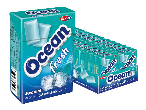 Ocean Fresh Menthol Flavoured Sugared Dragee Gum