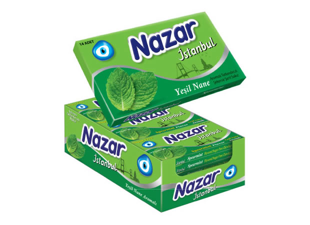 Nazar İstanbul Spearmint Flavoured Sugar Free Chewing Gum