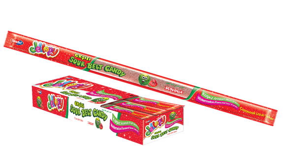Jellopy Sourbelt Candy Watermelon Flavoured Sour Candy