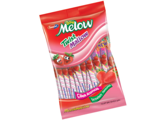 Bay Melow Long Strawberry Flavoured Marshmallow