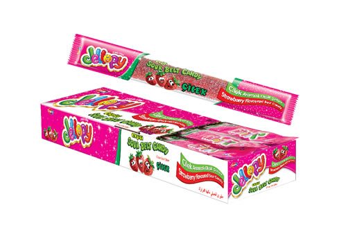 Jellopy Sourbelt Candy Strawberry Flavoured Sour Candy