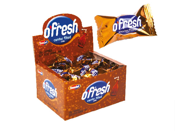 O'FRESH Cola Flavoured Center Filled Chewing Gum