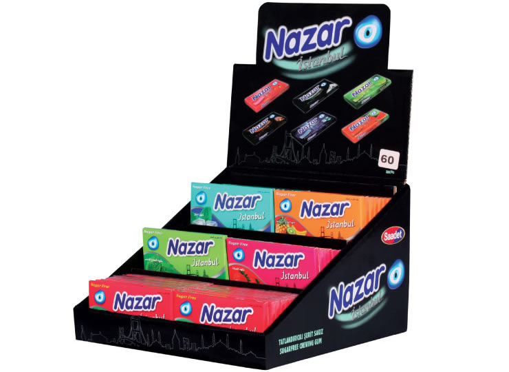 Nazar İstanbul Stand Sugar Free Chewing Gum
