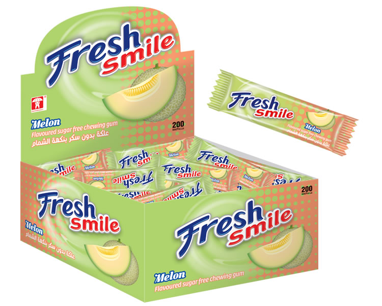 Fresh Smile Melon Flavoured Sugar Free Gum