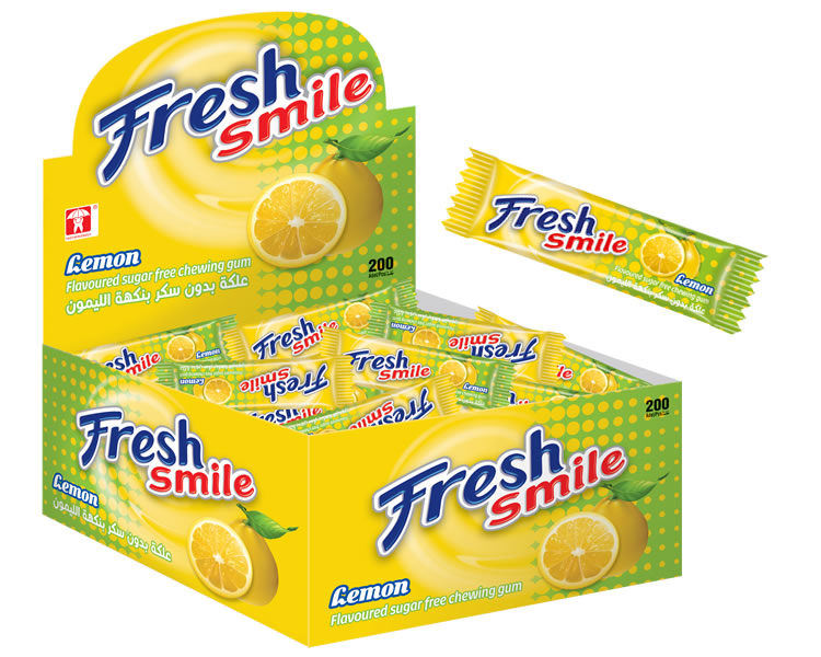 Fresh Smile Lemon Flavoured Sugar Free Gum