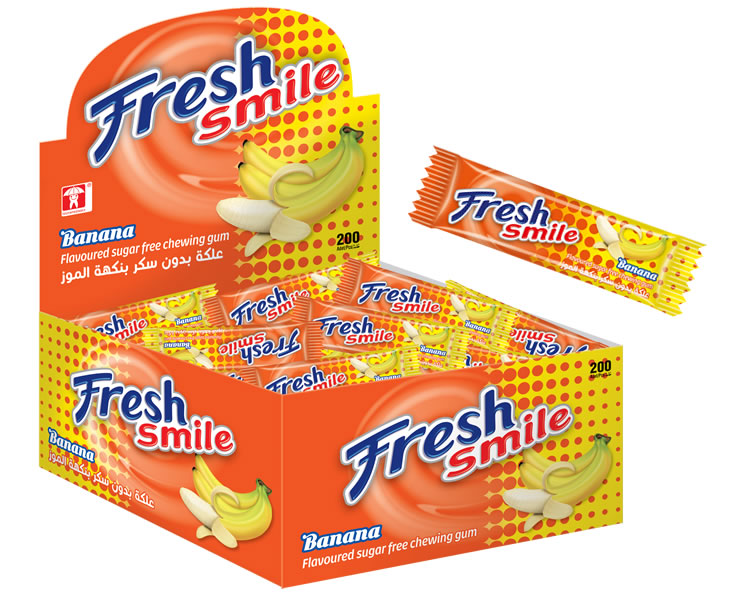 Fresh Smile Banana Flavoured Sugar Free Gum